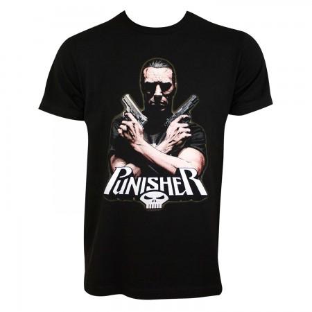 Punisher Men's Black Crossfire T-Shirt