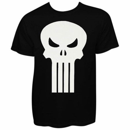 Punisher White Skull Black Graphic T-Shirt