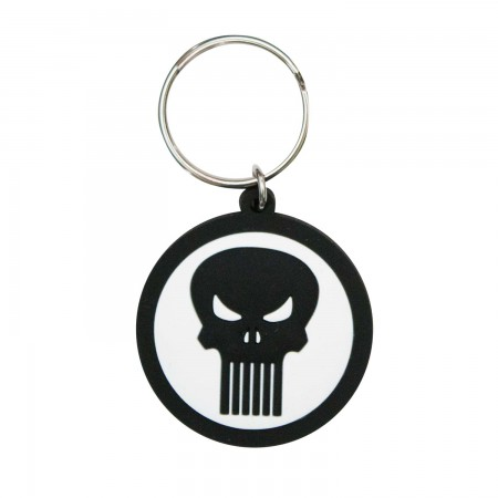 Punisher Round Rubber Keychain