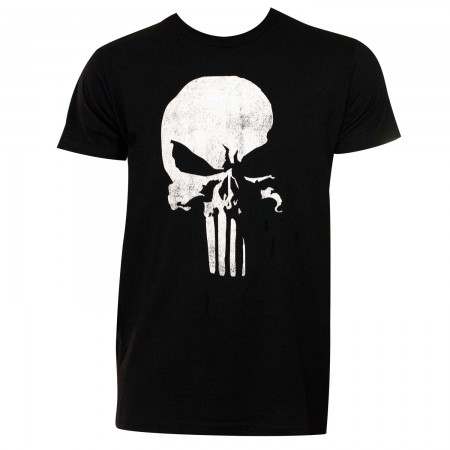 Punisher Men's Black 3D Logo T-Shirt