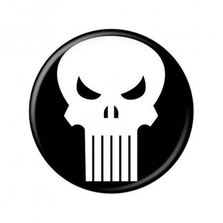 Punisher Skull Logo Button
