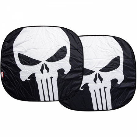 Punisher Skull Logo Springshade Car Windshield Sunshade