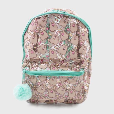 Pusheen Character with Ice Cream Cone Chibi Clear PVC Mini Backpack