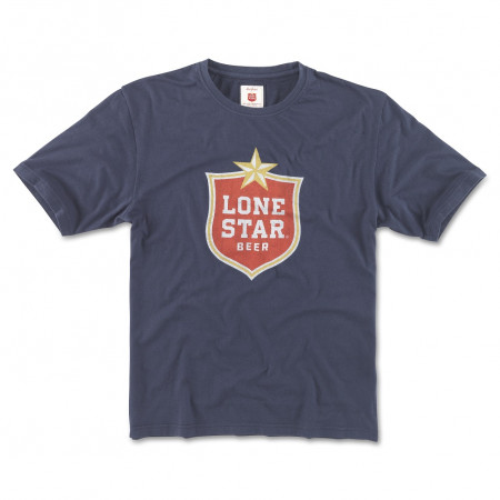 Lone Star Beer Men's Navy Blue T-Shirt