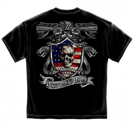 Patriotic 2nd Amendment Don't Tread On Me Men's Black T-Shirt