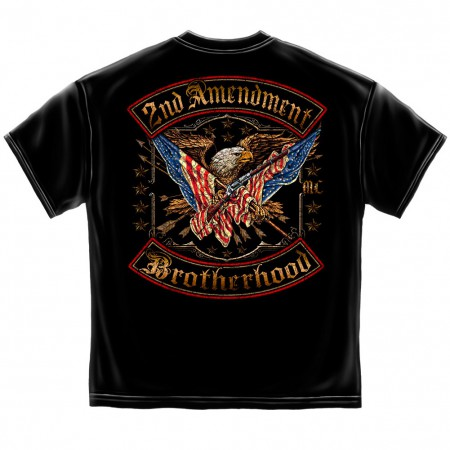 Patriotic 2nd Amendment Brotherhood Men's Black T-Shirt