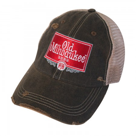 Old Milwaukee Distressed Trucker Hat