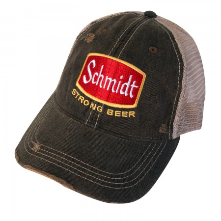 Schmidt Beer Distressed Trucker Hat