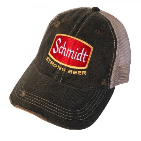 Schmidt Beer Distressed Trucker Hat