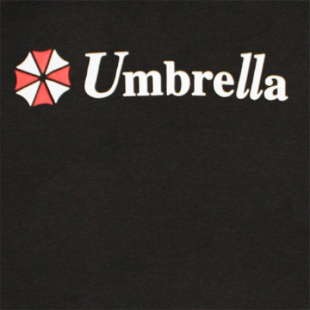 Resident Evil Umbrella Logo Black Graphic Tee Shirt