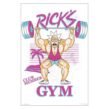 Rick and Morty Ricks Gym 23 x 34 Poster