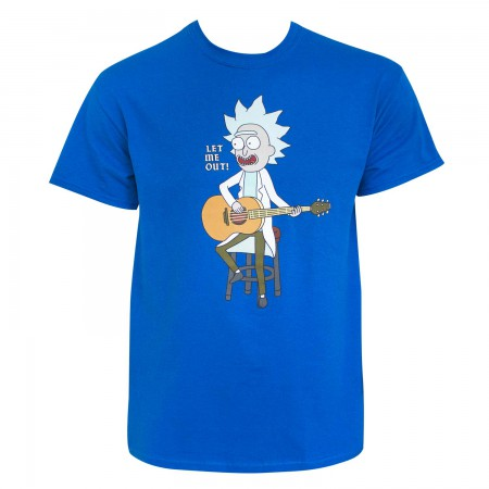 Rick And Morty Men's Blue Let Me Out T-Shirt