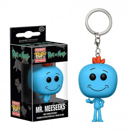 Rick And Morty Funko Pop Mr. Meeseeks Keychain