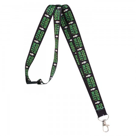 Rick And Morty Black OOOH WEEE Lanyard