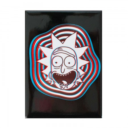 Rick And Morty Black 3D Rick Magnet