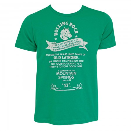 Rolling Rock Men's Green Tradition T-Shirt