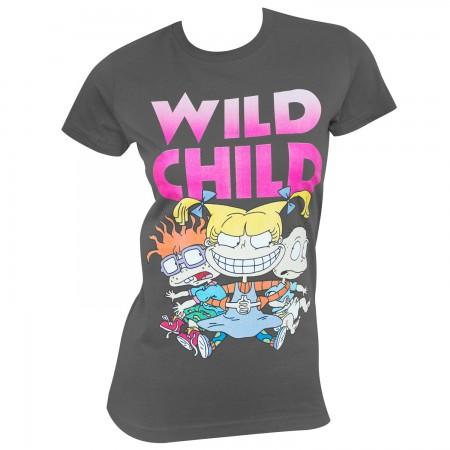 Rugrats Women's Gray Angelica Wild Child T-Shirt