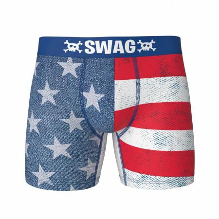 Americana Flag Design Swag Boxer Briefs