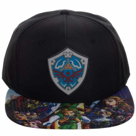 Legend Of Zelda Character Brim Sublimated Snapback Hat