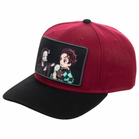 Demon Slayer Sublimated Patch Pre-Curved Snapback Hat