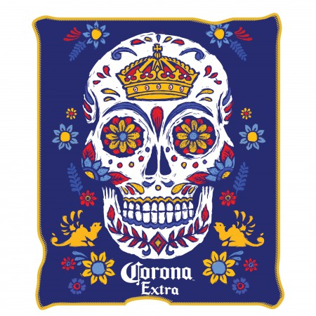 Corona Extra Sugar Skull 45 X 60 Fleece Blanket