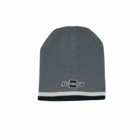 Chevrolet Bowtie Logo Striped Knit Beanie
