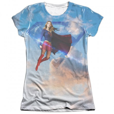 Supergirl Up In The Sky Women's T-Shirt