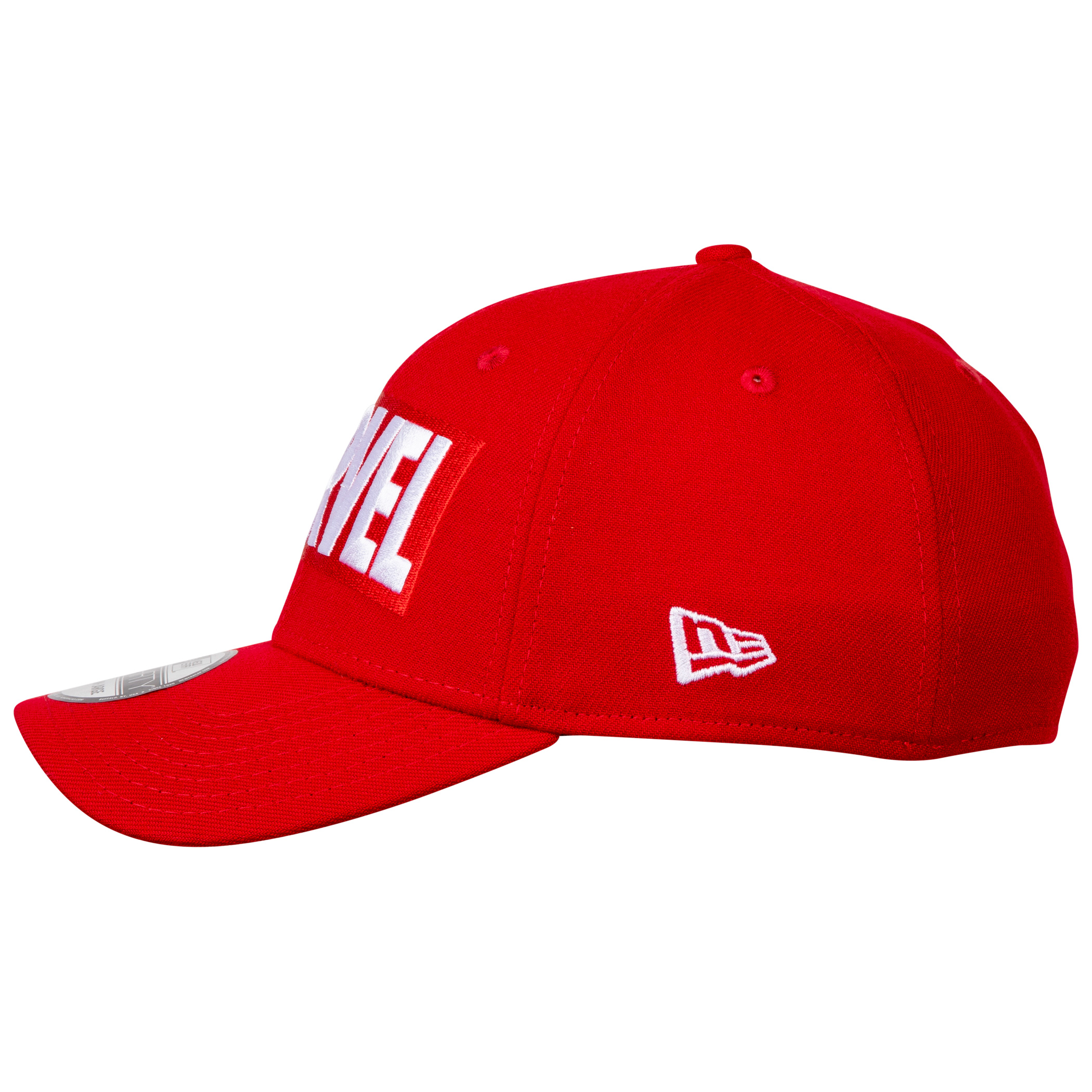 Marvel Brand Logo RED Label New Era 39Thirty Fitted Hat