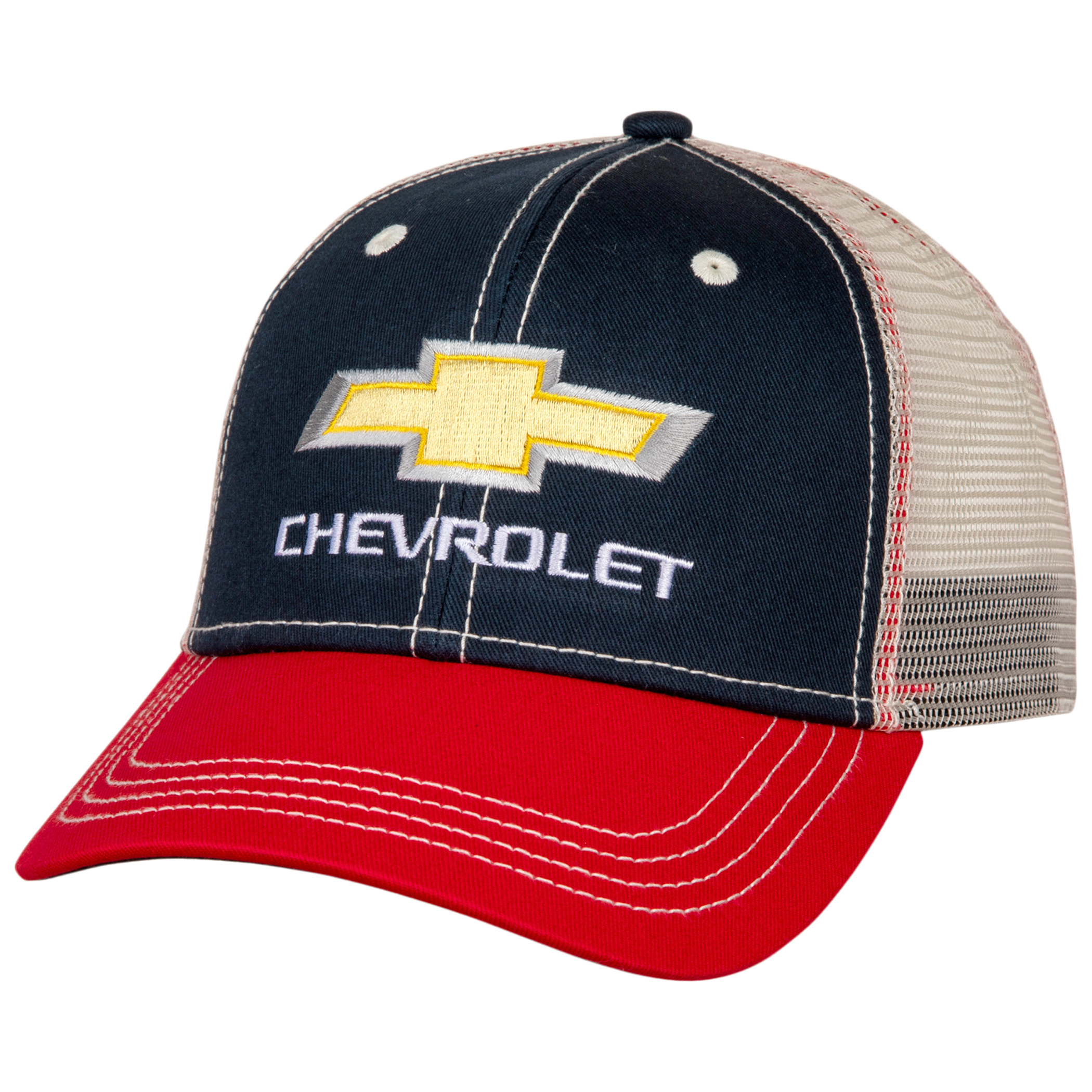 Chevrolet Logo Adjustable Mesh Snapback Hat