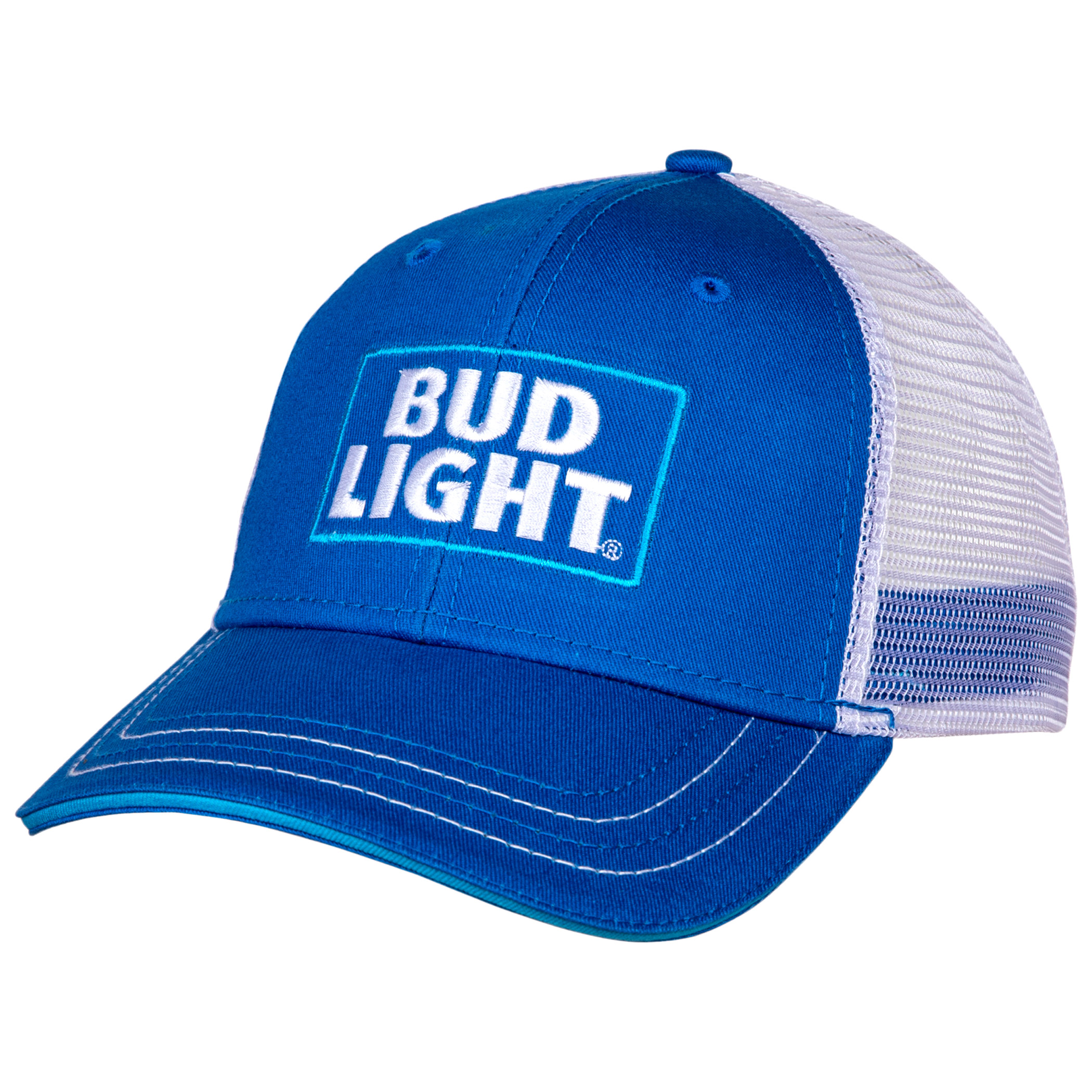 Bud Light Logo Adjustable Snapback Mesh Trucker Hat