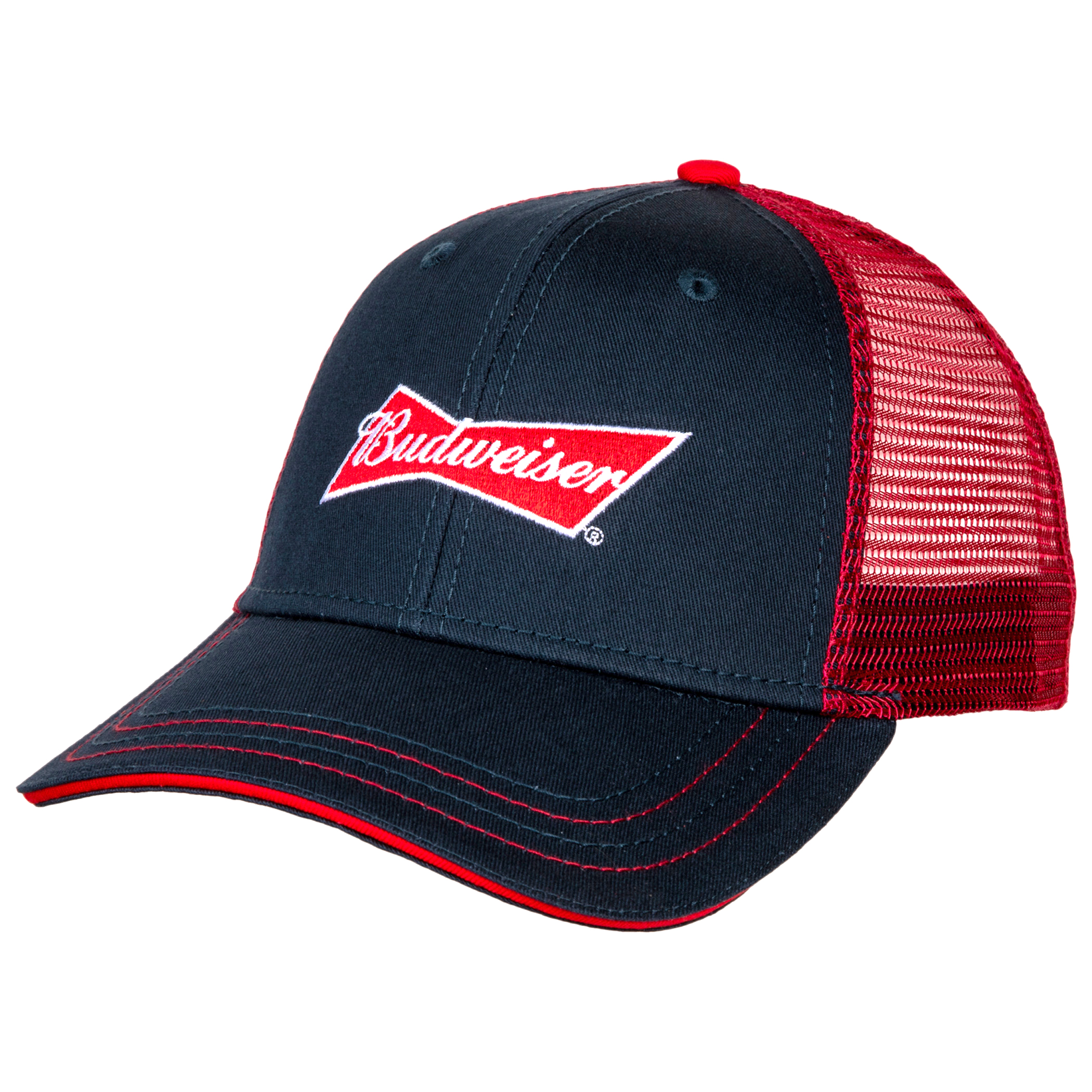 Budweiser Logo Adjustable Snapback Trucker Hat