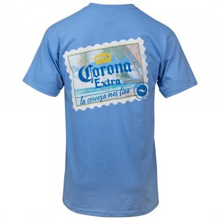 Corona Extra Beach Postcard Front and Back Print T-Shirt
