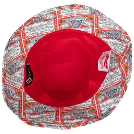 Budweiser Beer Repeating Label Bucket Hat