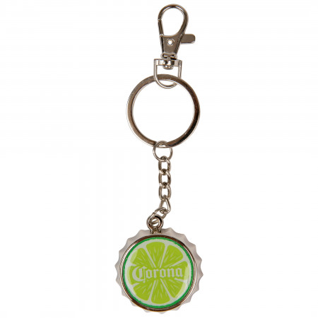 Corona Extra Lime Wedge Bottle Opener Keychain