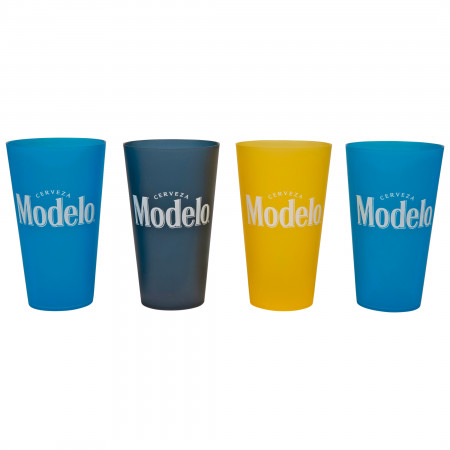 Modelo Cerveza Multi-Colored 4-Pack Plastic 22 Ounce Cups