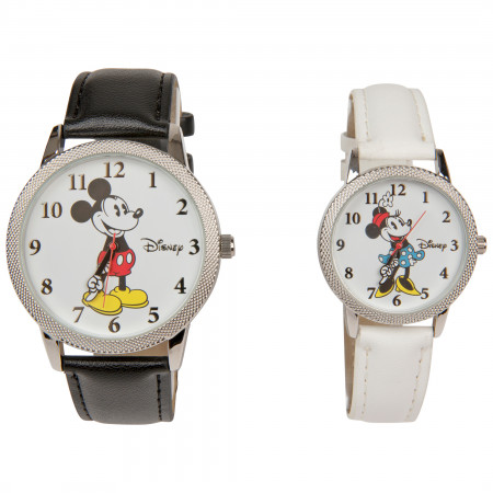 Mickey and Minnie Mouse His & Hers Watch Set
