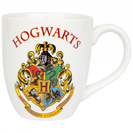 Harry Potter Hogwarts Crest Text Mug