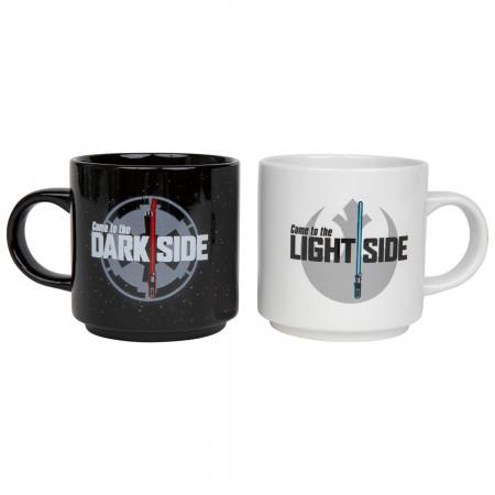 Star Wars Lightsaber Light and Dark Side 2pk 14oz. Mugs