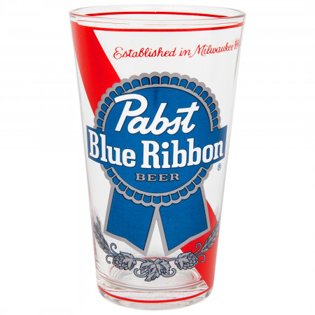 Pabst Blue Ribbon Logo Single Pub Pint Glass