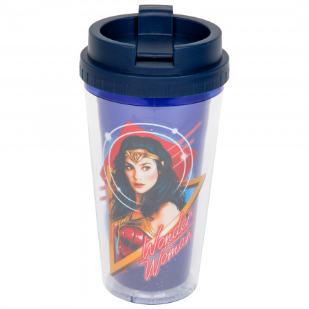 Wonder Woman 1984 Character Print 16oz Double Wall Plastic Travel Mug