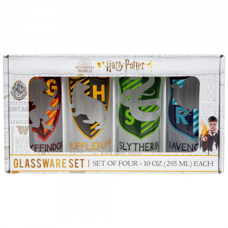 Harry Potter House Crest 4-Pack Tumbler Set