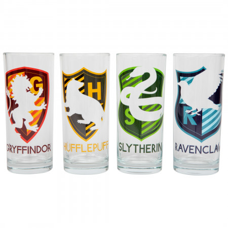Harry Potter House Crest 4-Pack Tumbler Set