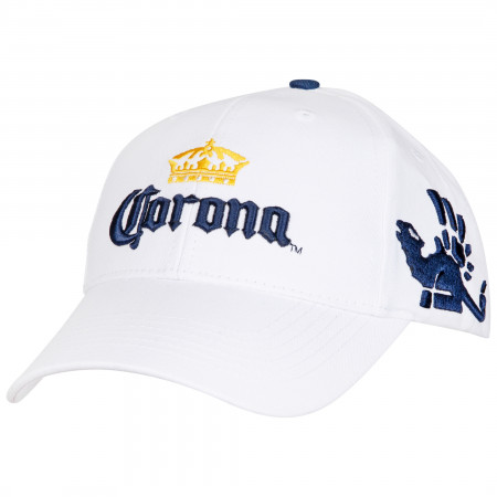 Corona Extra Crown White Adjustable Strapback Hat