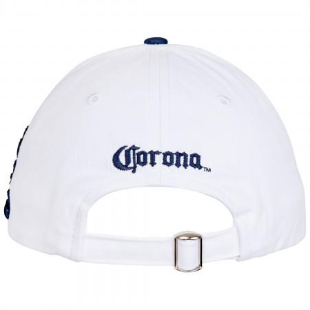 Corona Extra Crown White Adjustable Strapback Hat