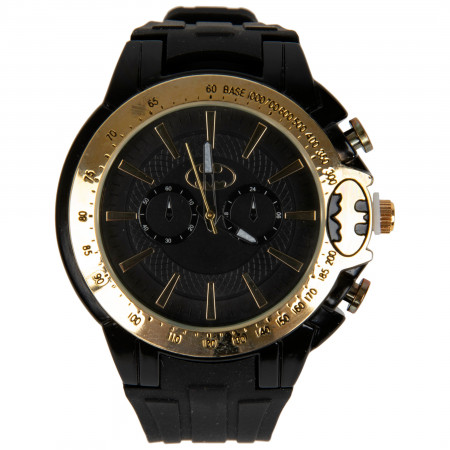 Batman Gunmetal and Gold Analog Watch