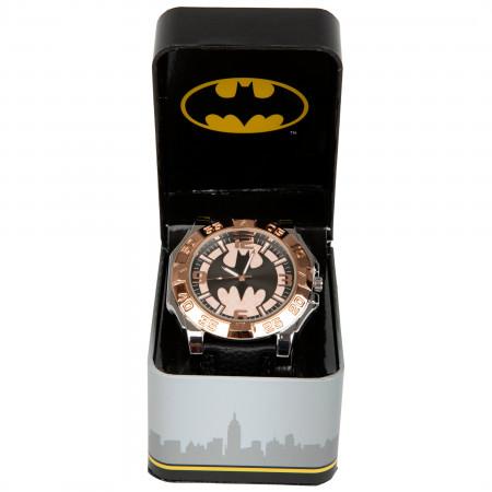 Batman Rose Gold Face Watch