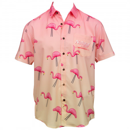 Naturdays Natural Light Party Time Tropical Bros Hawaiian Shirt
