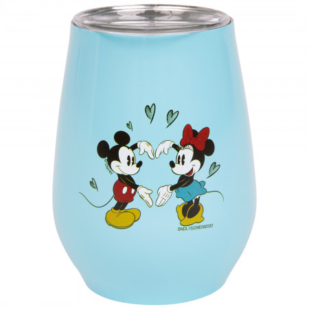 Mickey and Minnie Mouse 10oz Stainless Tumbler with Lid