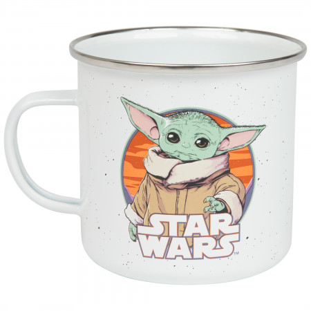 Star Wars The Mandalorian The Child 21oz Enamel Camper Mug