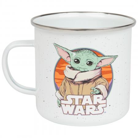 Star Wars The Mandalorian The Child 21oz Enamel Camper Mug